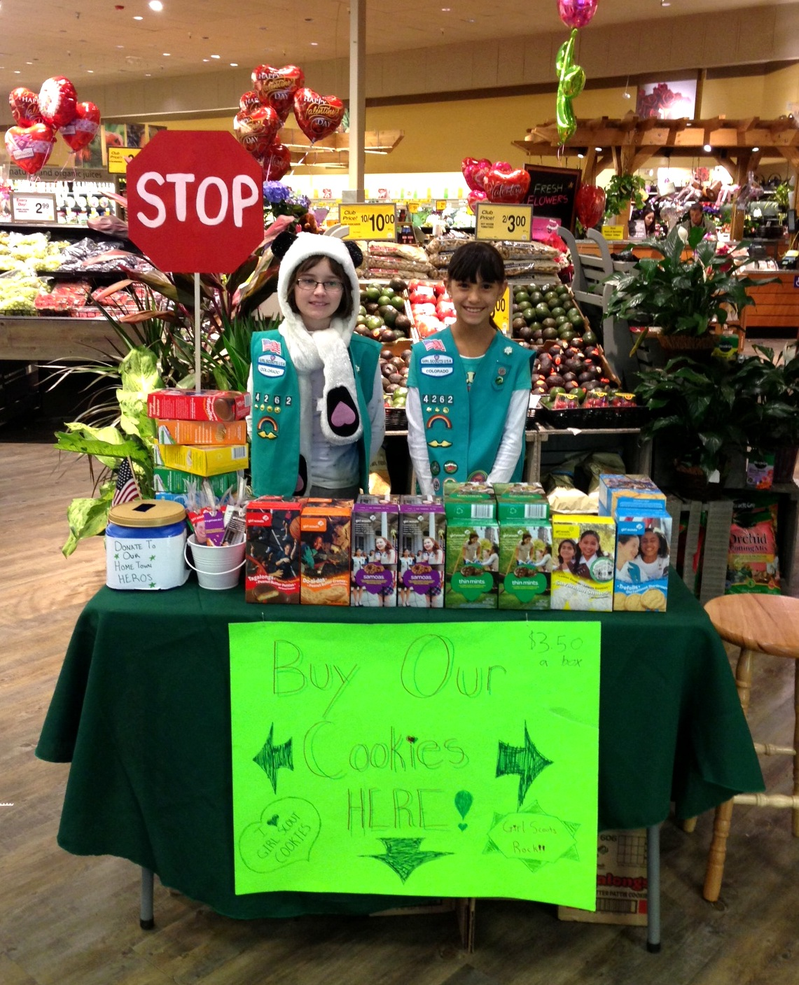 Girl scout scrapbook ideas - Girl Scout Cookie Booth Ideas