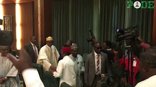 President Buhari meets with governors at Aso Rock