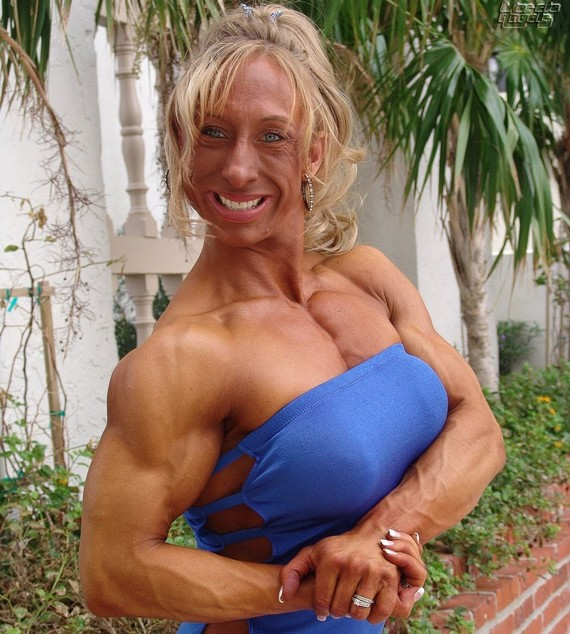 Bertha ? female (I think) bodybuilder. Able to swallow 20 testosterone pills ...