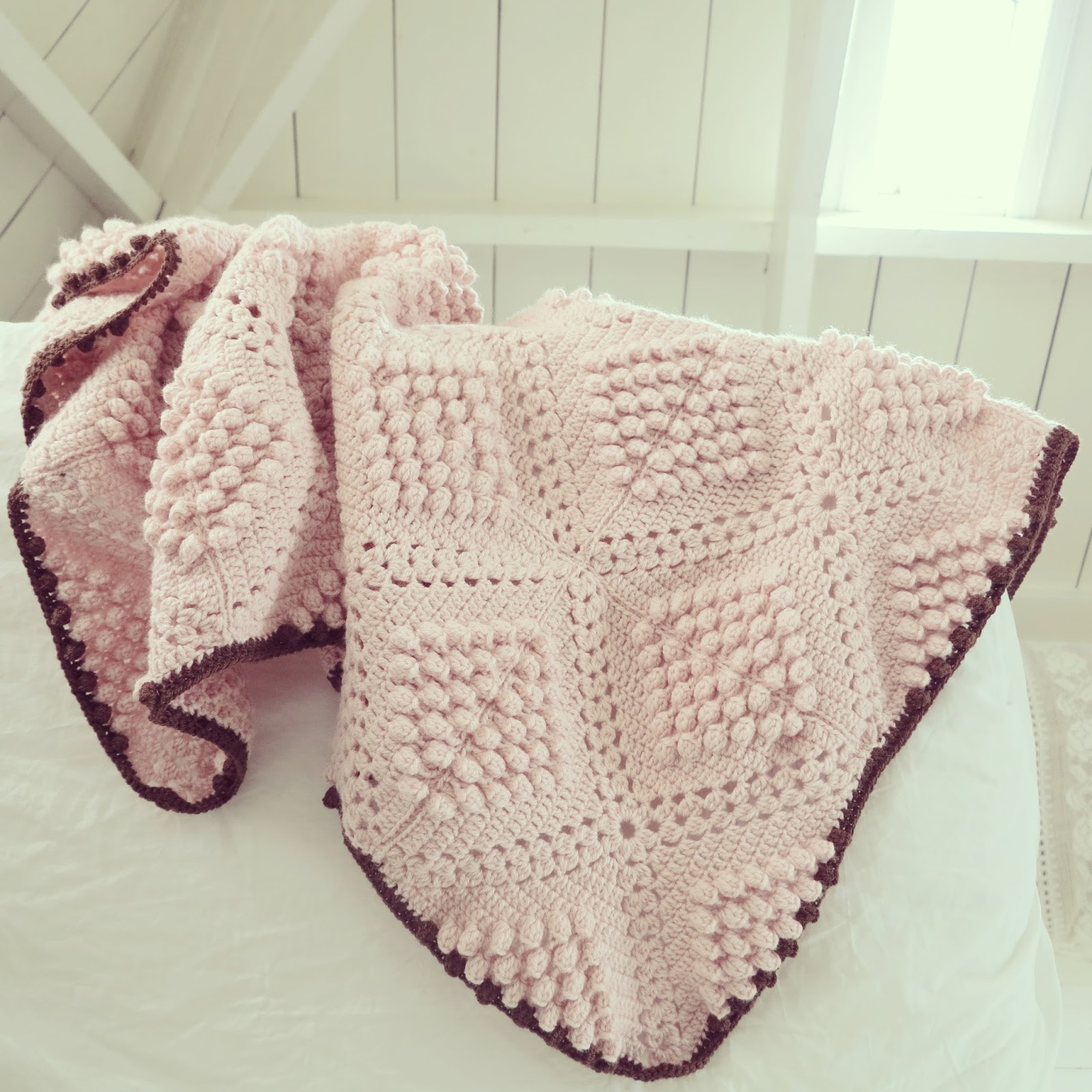 Knitting Pattern For Popcorn Baby Blanket : ByHaafner * crochet : Pattern * popcorn blanket