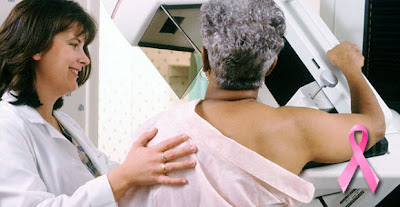 Black Woman Being Tested For Breast Cancer