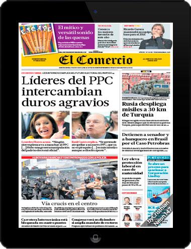 Diario El Comercio Perú + Suplementos (26 Noviembre 2015) - Líderes del PPC intercambian duros agravios