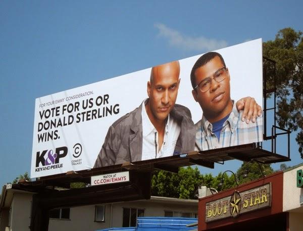 Vote for us or Donald Sterling wins Key Peele Emmy 2014 billboard