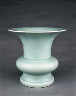 Rare celadon glazed Yongzheng Zun vase