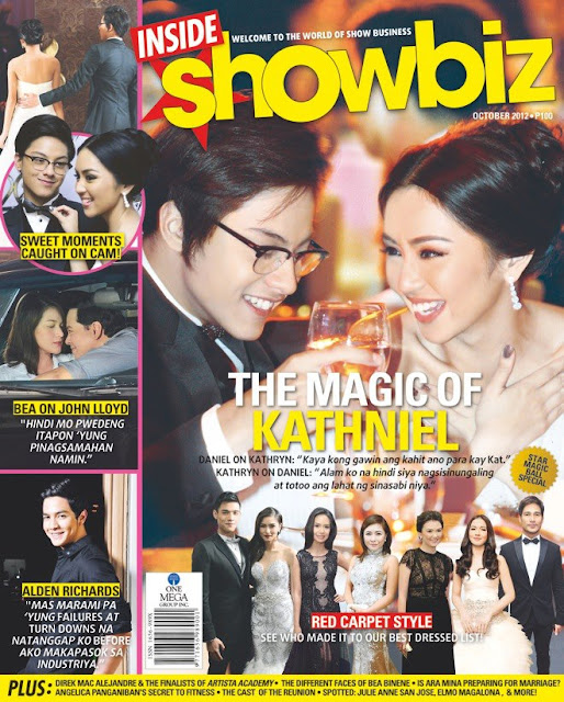 Kathryn Bernardo and Daniel Padilla (KathNiel) Cover Inside Showbiz October 2012 Issue