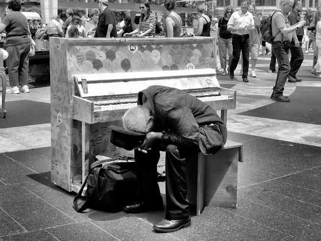 Alone in a Crowd, #SFHpianos, #chobanipiano, #artforall, #singforhope, #NYC, 2013