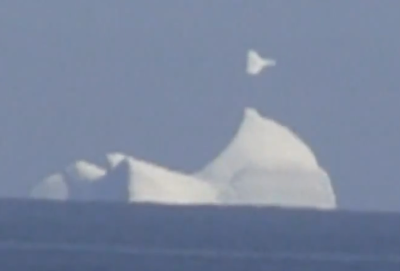 UFO Sighting Spotted Above A Iceberg, UFO Sighting News