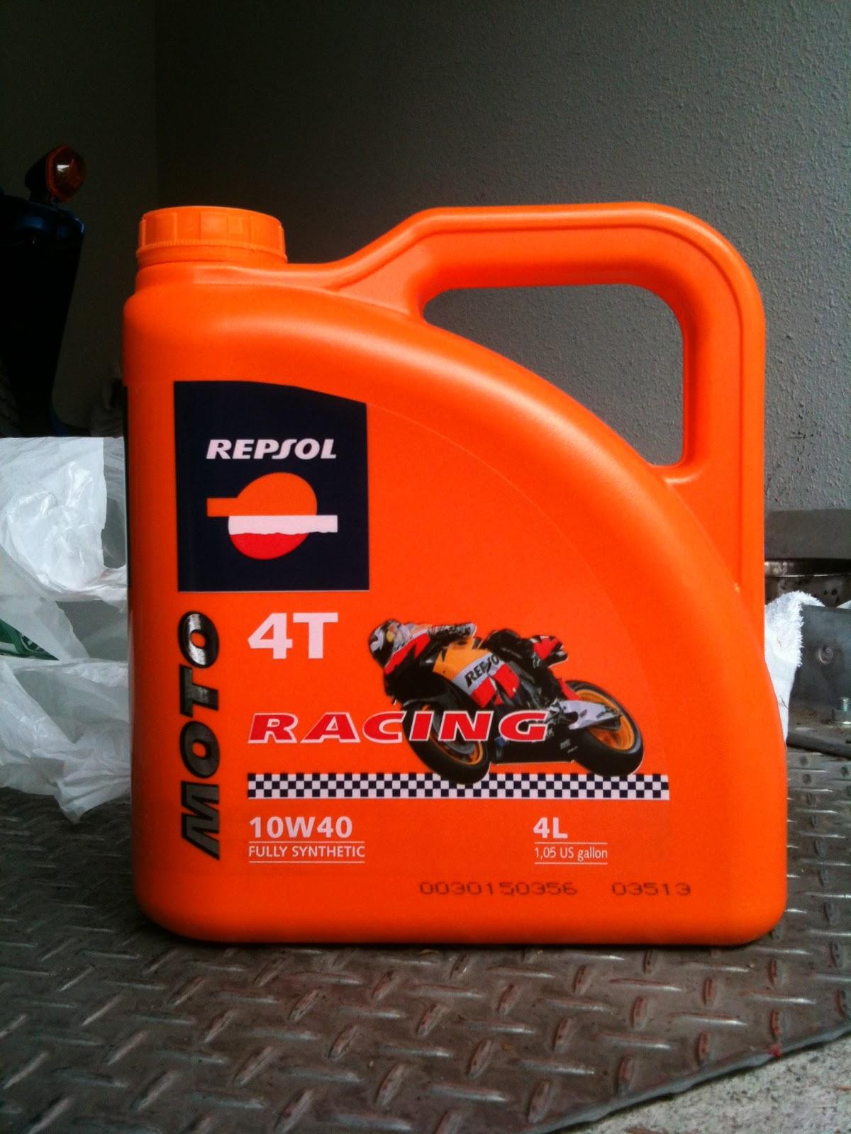 レプソル・モト・レーシング4T 10W-40 4リットル 化学合成油・シンセティックオイル
