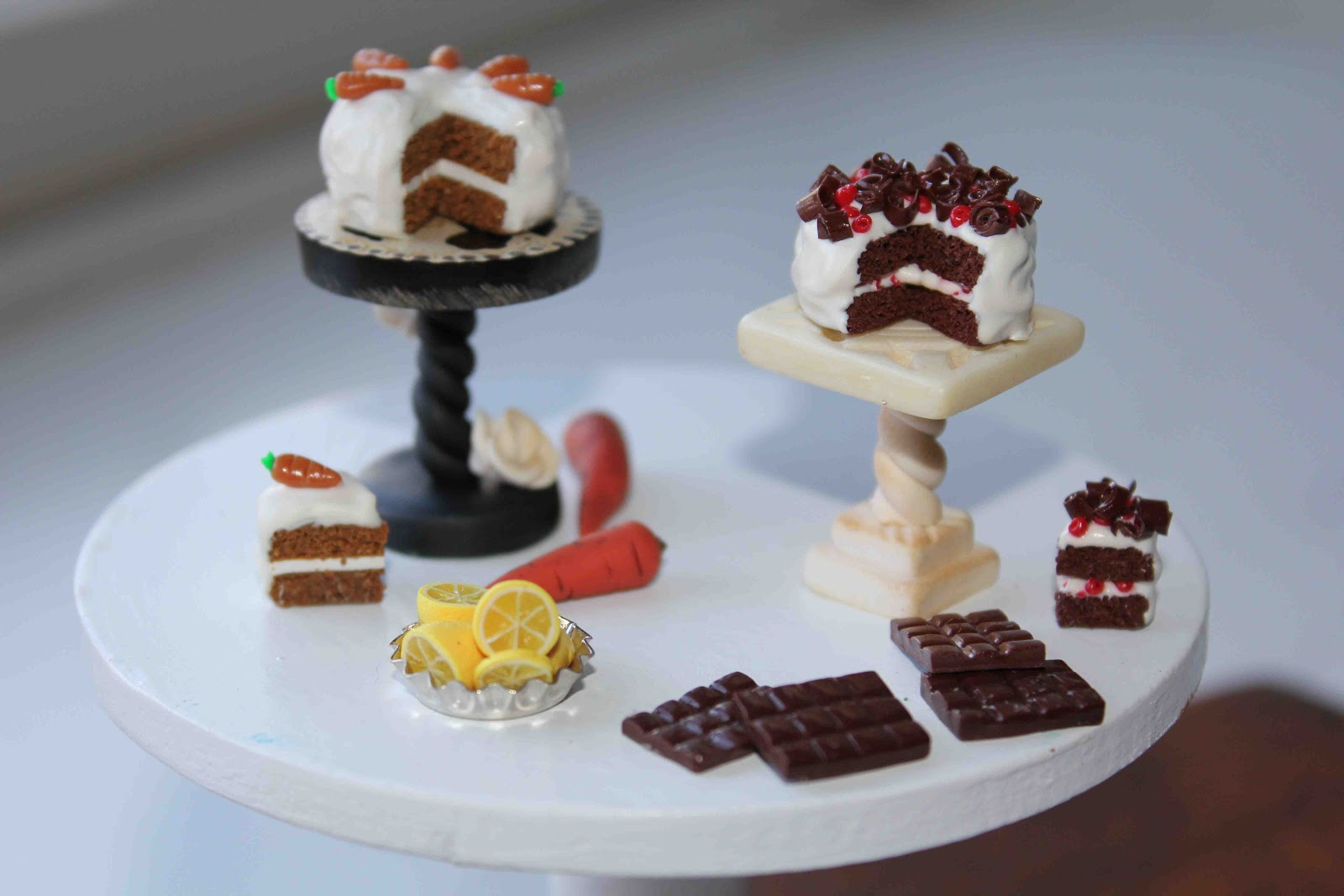 Diy Miniature Polymer Clay Cake Stand