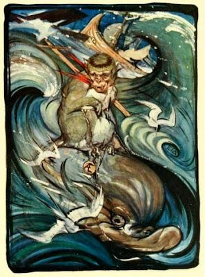 La mona i el dofí (Edward Julius Detmold)
