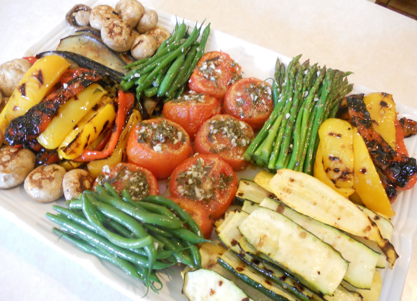 Room Temperature Grilled Vegetables