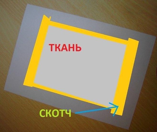 логотип на ткани: