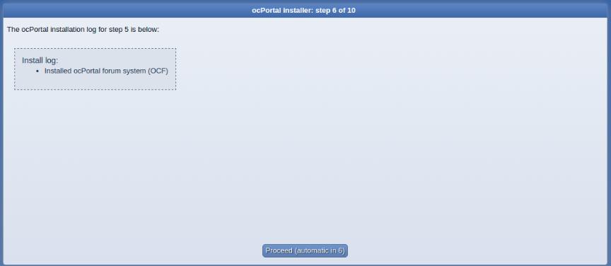 install ocportal step 6