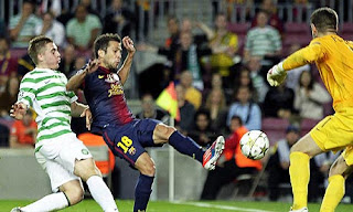 Loga Champion Barcelona vs Celtic 24 oktober 2012
