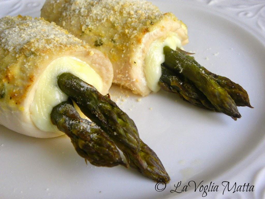 involtini di pollo con asiago ed asparagi