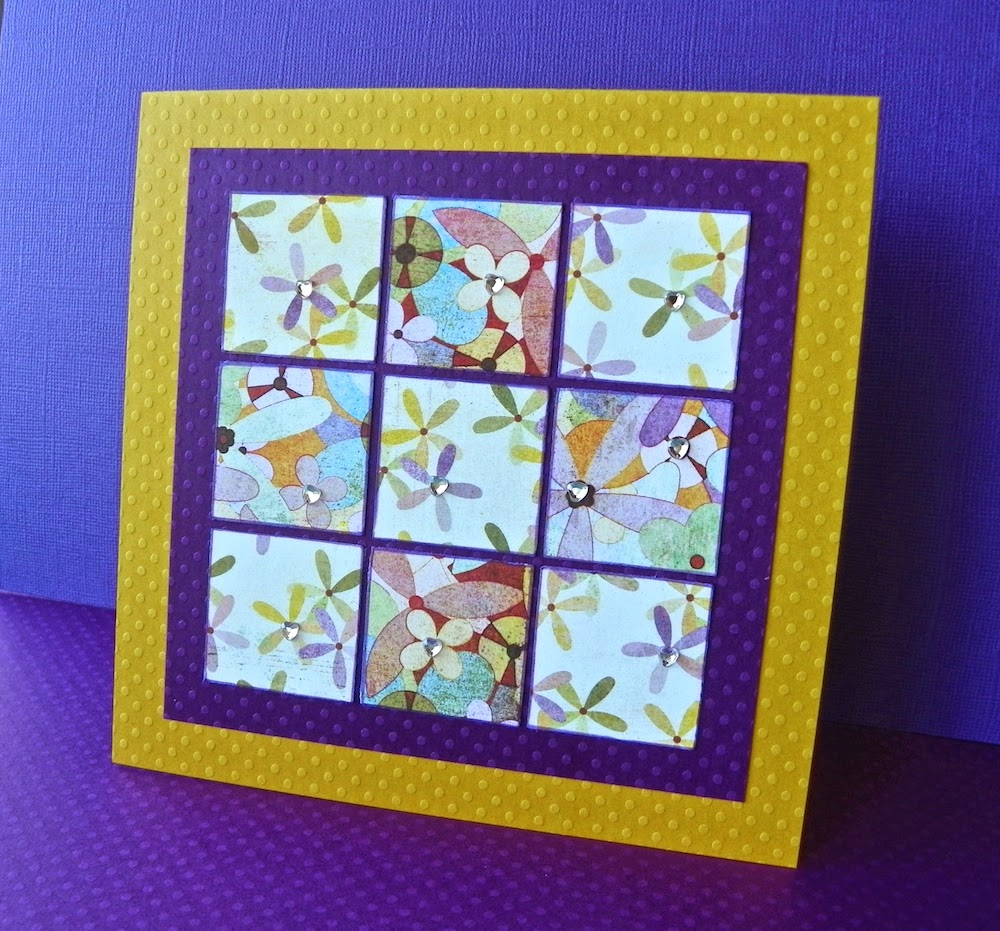 windowpane mosaic greeting card