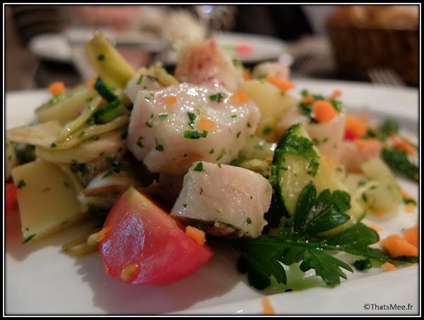 Salade de Poulpe entrée resto italien Procopio Angelo Paris 10ème