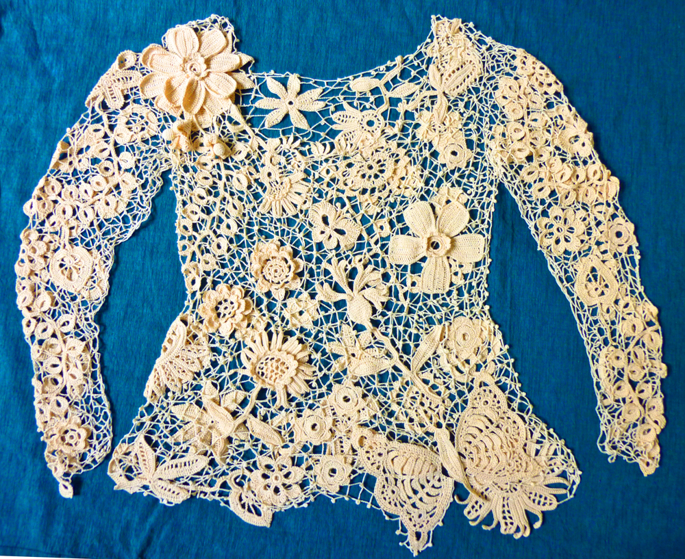 Crocheting Lace Patterns : ... commissioned me to make an Irish Lace crochet garment for her wedding