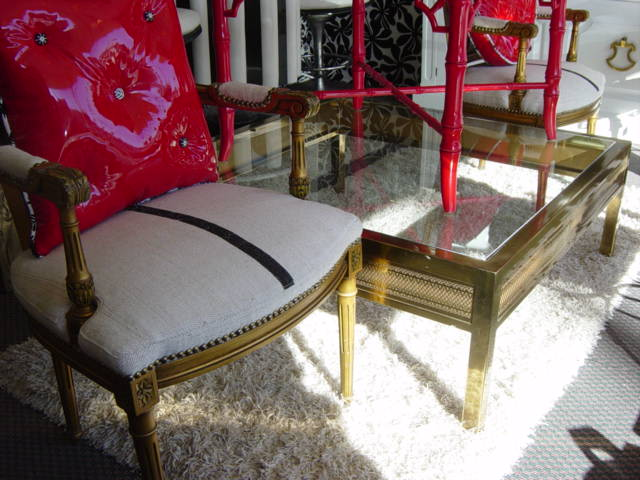 newport avenue antiques: vintage modern hollywood regency brass
