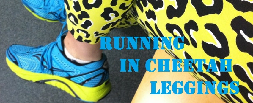 Running In Cheetah Leggings
