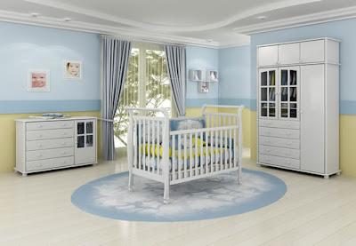 quarto para bebê, menino, simlpes azul e branco