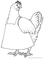 Mewarnai Gambar Ayam Betina