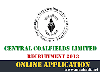 Central Coalfields Limited Recruitment 2013
