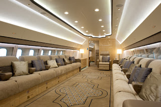The plush interiors of Boeing's BBJ 3 [Photo: Boeing]