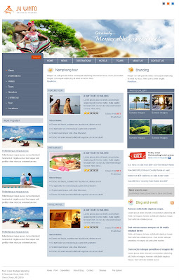 Premium Joomla Holidays-Tourism Template