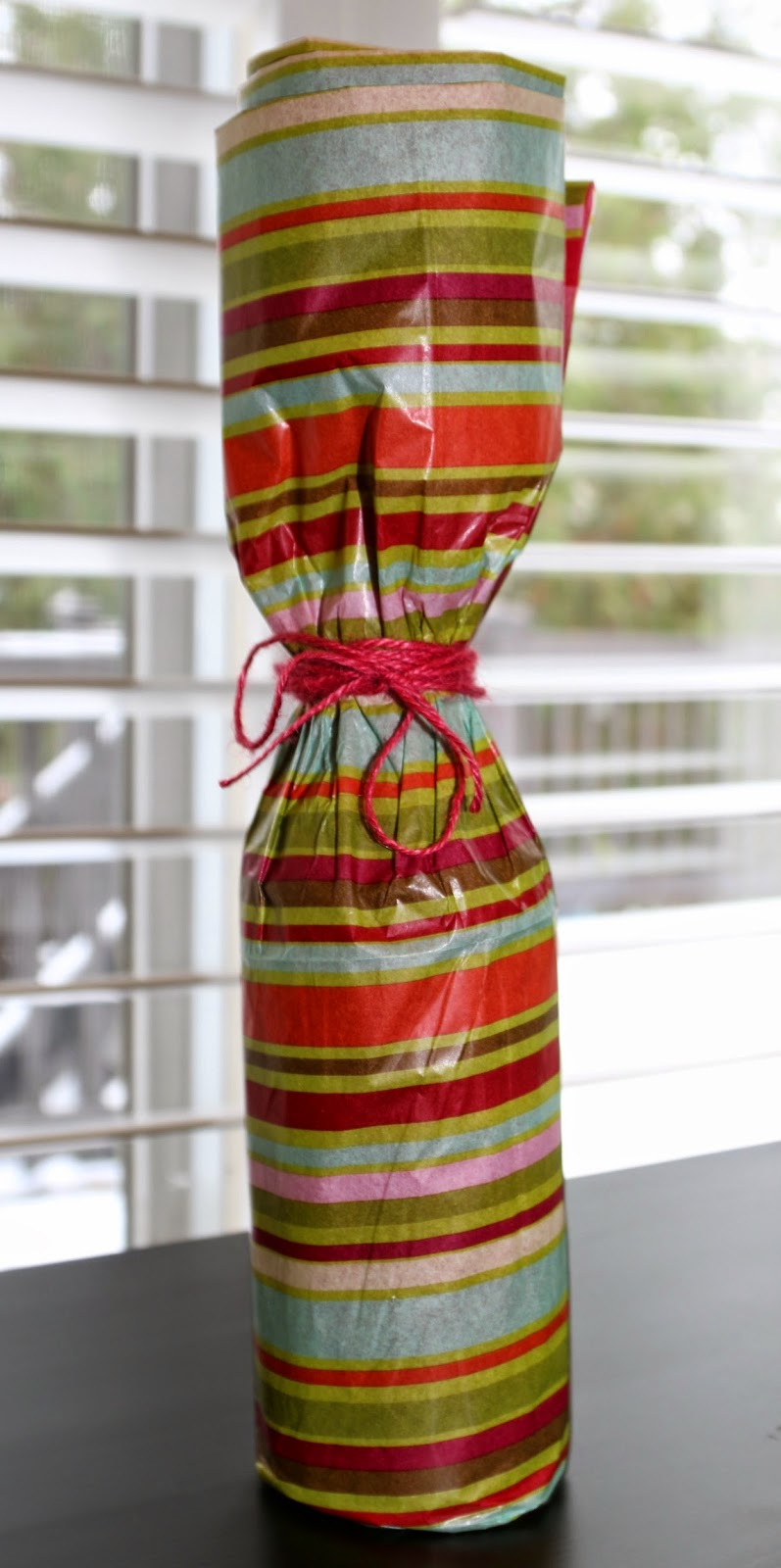 Tissue Paper Wine Bottle Wrapping Image