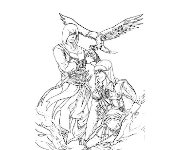#8 Assassin's Creed Coloring Page