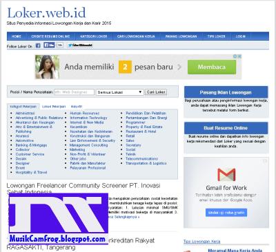 situs lowongan pekerjaan di loker.web.id