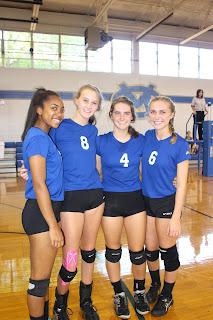 Montgomery Catholic Volleyball Team Honors their Seniors 1