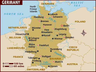 Mapa de Alemania Imagen