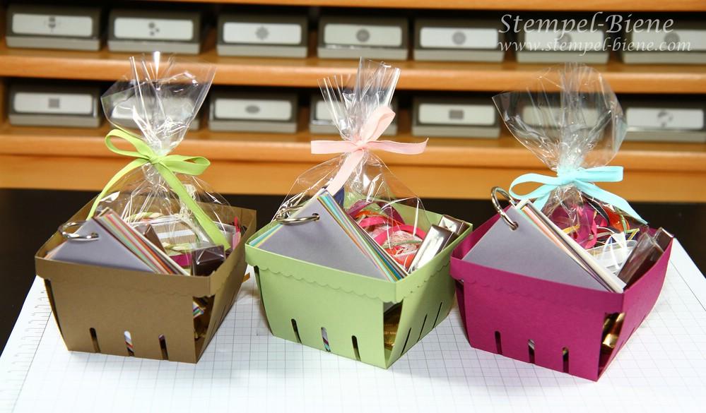 Geschenke Stampin Up Demonstrator, Stampin Up Demonstrator Vorteile, Geschenke für Stampin Up Team, Stempel-Biene, Bigz Form Körbchen