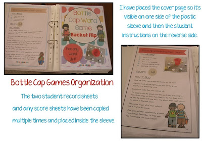 Imae Bottle Cap Center Games organize your Caps Clever Classroom