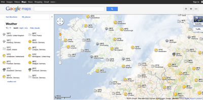 Google Maps World Weather