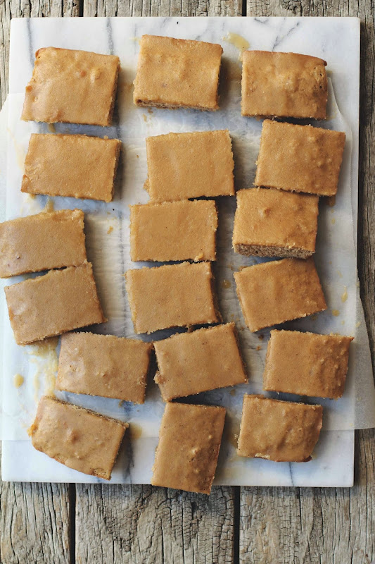 Milk and Honey: Maple Pecan Blondies with Maple Butter Glaze