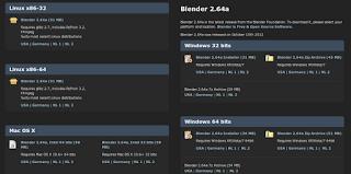 ukuran aplikasi blender