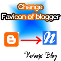 Change favicon of blogger