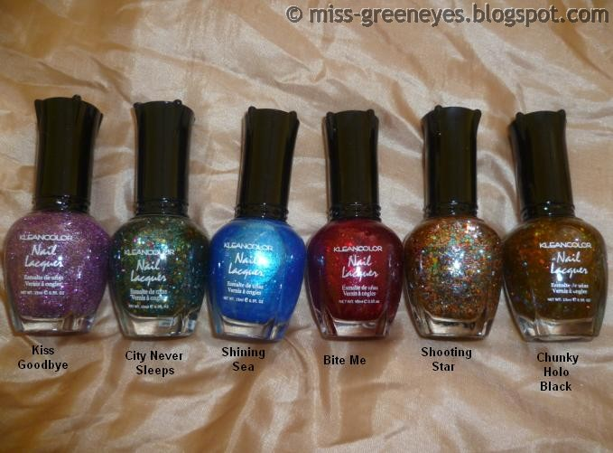 Behind Green Eyes: eBay Haul: Kleancolor Nail Lacquer