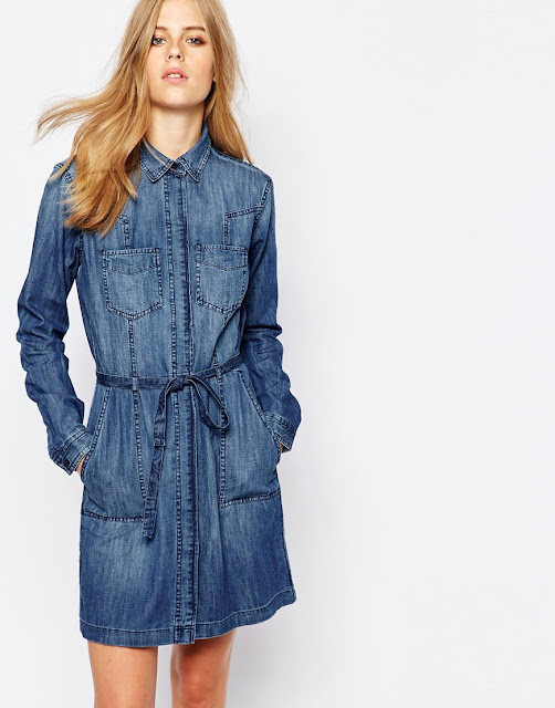esprit denim dress, denim shirt dress,