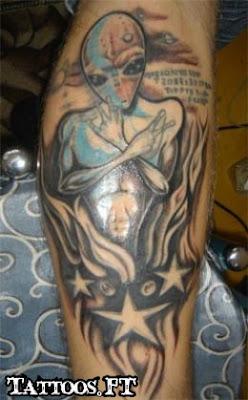 tatoos aliens antebraco