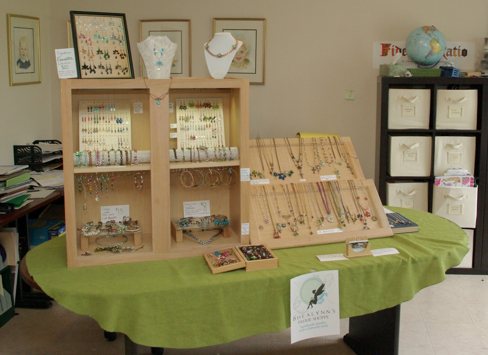 My diy craft fair display shealynn 39 s faerie shoppe for Display necklaces craft fair