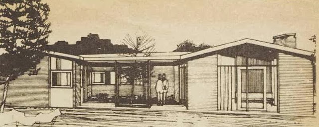 1960s house design - elevation