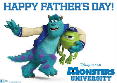 download #FREE Disney-Pixar #MonstersU & #DisneyPlanes #FathersDay cards