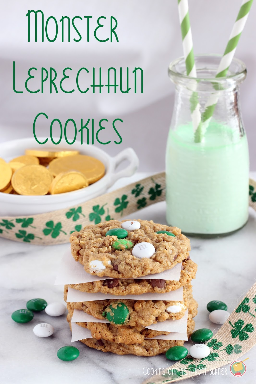 Monster Leprechaun Cookies | Cooking on the Front Burner #monstercookies #stpattysday