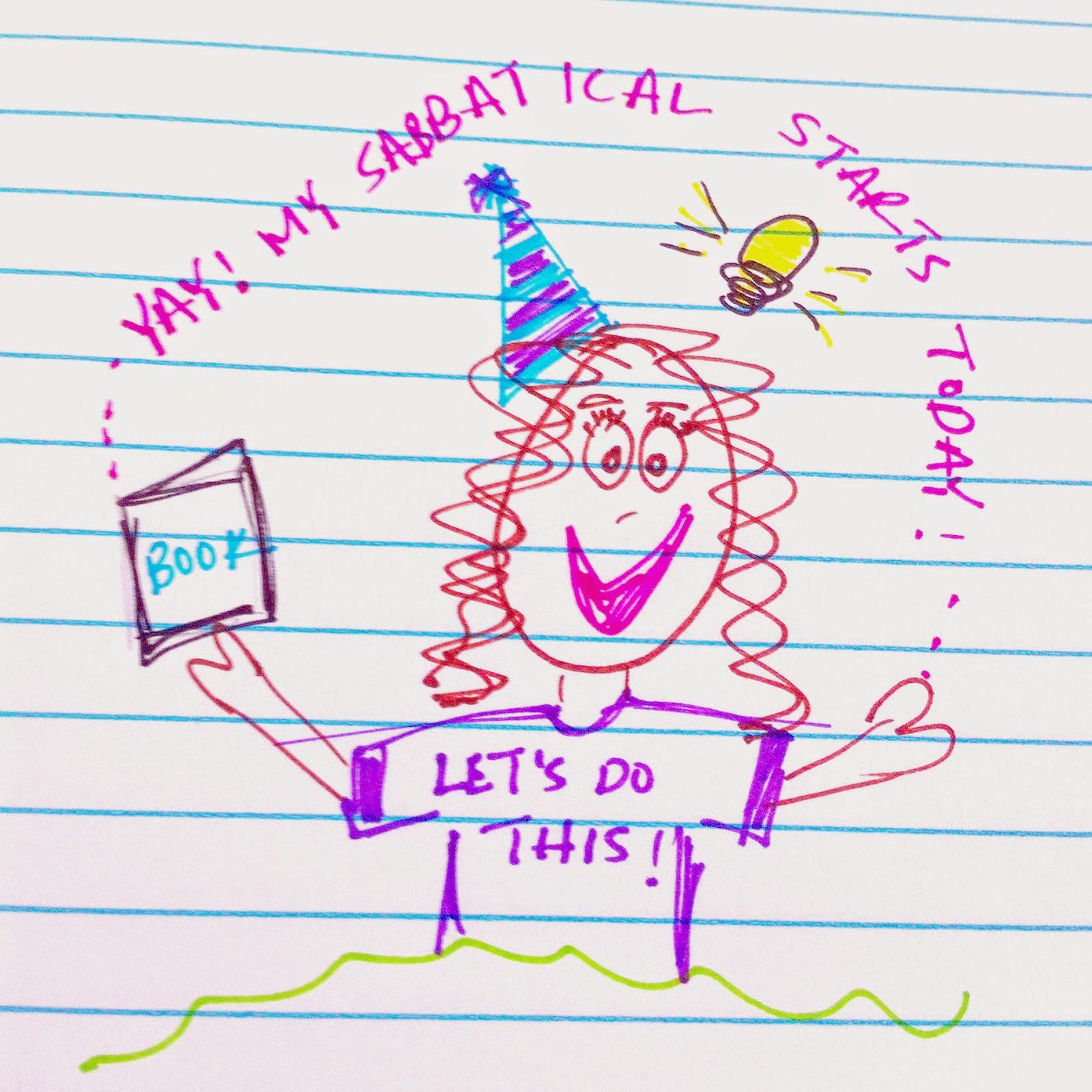 Sabbatical drawing Jen Lara