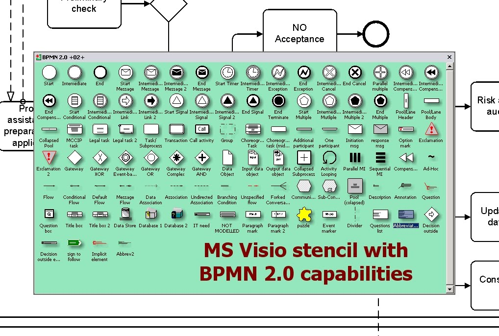 Process modeling legislation bpmn 20 ms visio stencil click on image to enlarge ccuart Images
