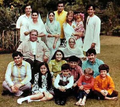 Prithviraj kapoor's family